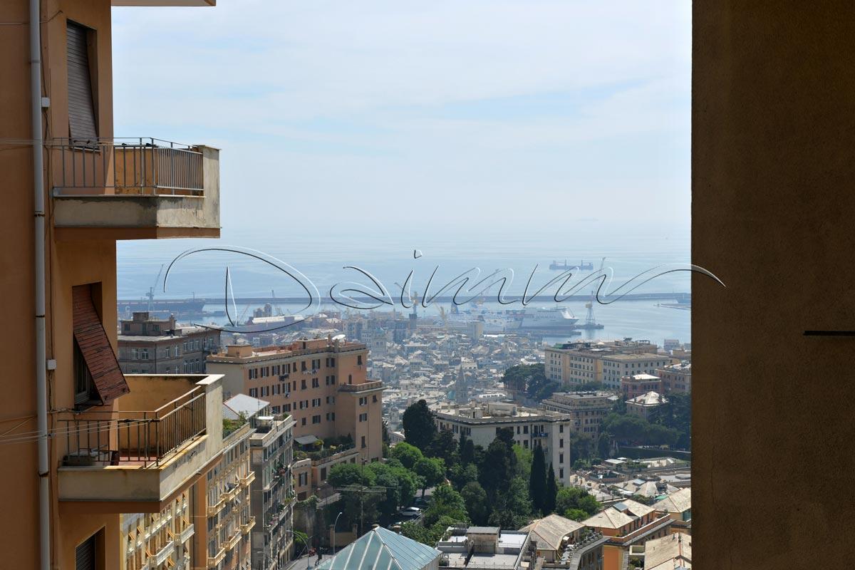 Vendita appartamento genova castelletto via acquarone vista mare daimm - Appartamento con giardino genova ...